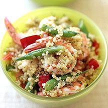 Salade de quinoa aux crevettes