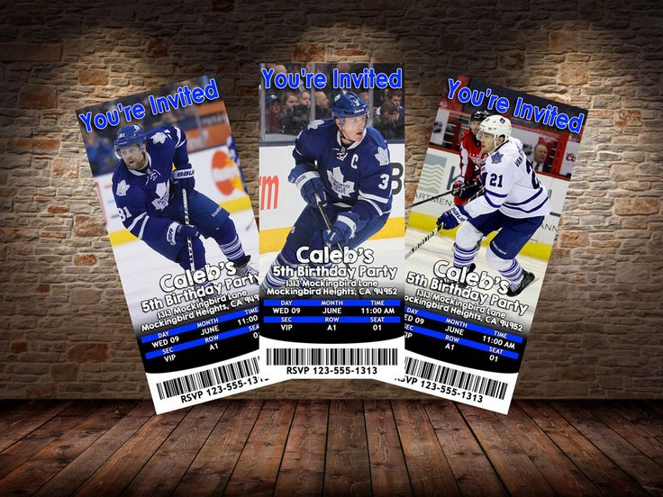 39 best toronto maple leafs birthday party images on pinterest toronto maple leafs themed birthday invitations digital file printable at home by mysteryboxstudio on bookmarktalkfo Images