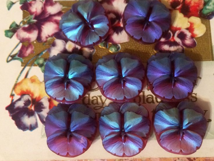 stunning glass pansy frosted buttons Like Buttons? come join our Facebook Button Page Button Button Who's Got The Button https://www.facebook.com/groups/whosgotbuttons/