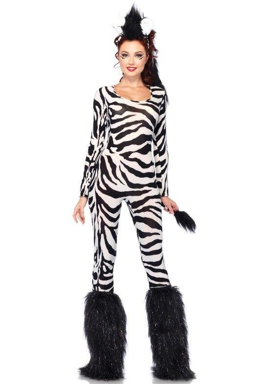 <p>Dit leuke wilde zebra kostuum is super voor carnaval of een dieren feest. Het is een tweedelig dieren pak bestaande uit de zebra catsuit met staart en de haarband Hanenkam met haar en oren. Het wilde zebra pak sluit aan en is geproduceerd door Leg Avenue.</p><p></p><p><strong>Let op:</strong> Valt 1 maat groter dan de maattabel.</p><p></p><p><strong>Set bestaat uit:</strong></p><p>- Zebra catsuit met staart</p><p>- Haarband hanenkam met haar en oren</p>