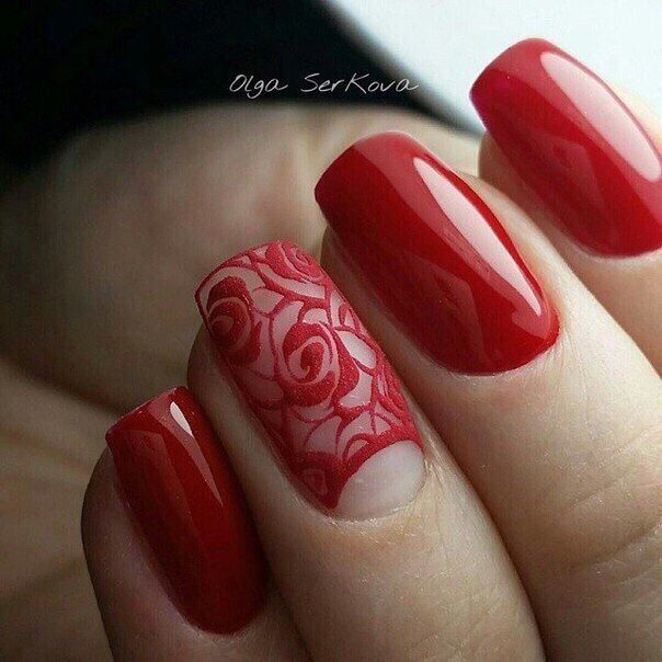 14th February nails, Accurate nails, Beautiful nails, Dating nails, flower nail art, Juicy nails, Manicure on the day of lovers, Nails for a black evening dress