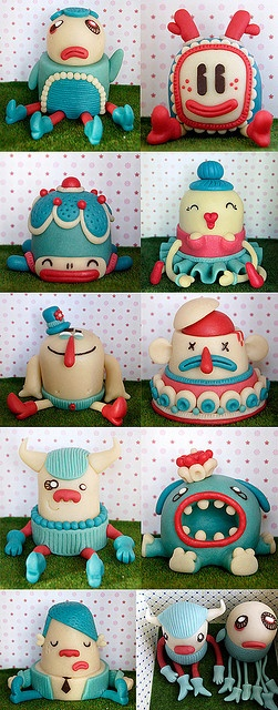 Marzipan: Figures Clay Fondant, Cakes Frostings Ideas, Edible Art, Adorable Edible