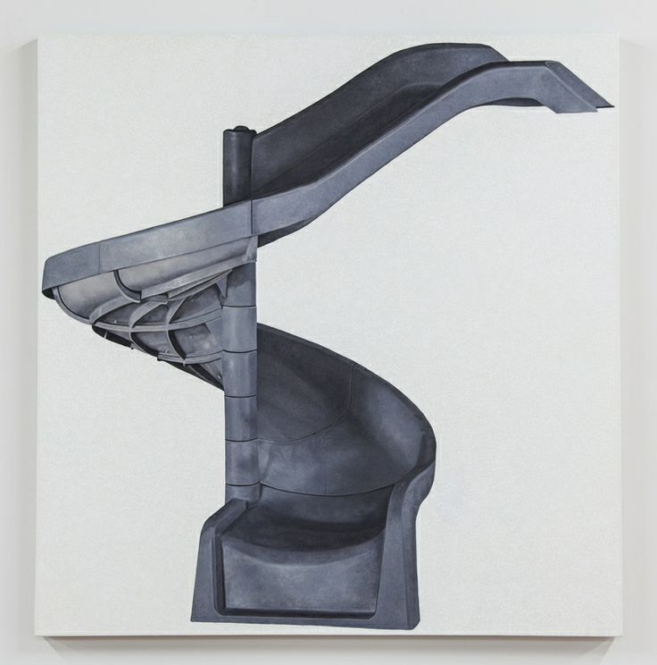 Louis Eisner  - Black and Grey Helter Skelter 2013 Oil on linen 64 x 62 inches