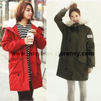 Korea style Fashion winter Outwear thicken cotton-padded coat Size:M,L Size choose, pls check the picture