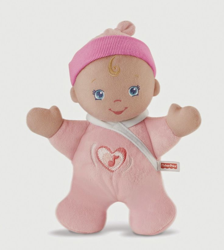 This sweet doll loves to get hugs. Squeese the soft tummy and hear her giggle. She can be washed, but take out the sound box out before washing. It will soon become your little ones favorite toy.  http://livinggood-entrepeneural.blogspot.com/2014/10/toys-for-girls.html