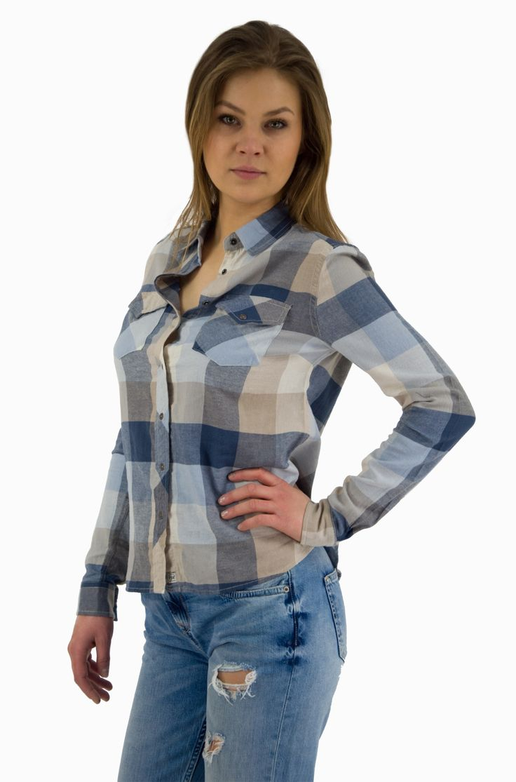 Damska #koszula #Pepejeans w modna kratę. Zajrzyj i sprawdź Denim Base!