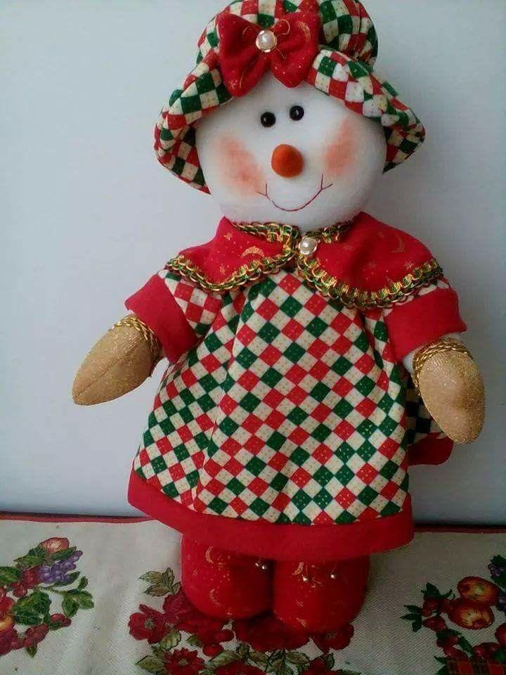 Niña nieve de muñecos navideños blanca nieve