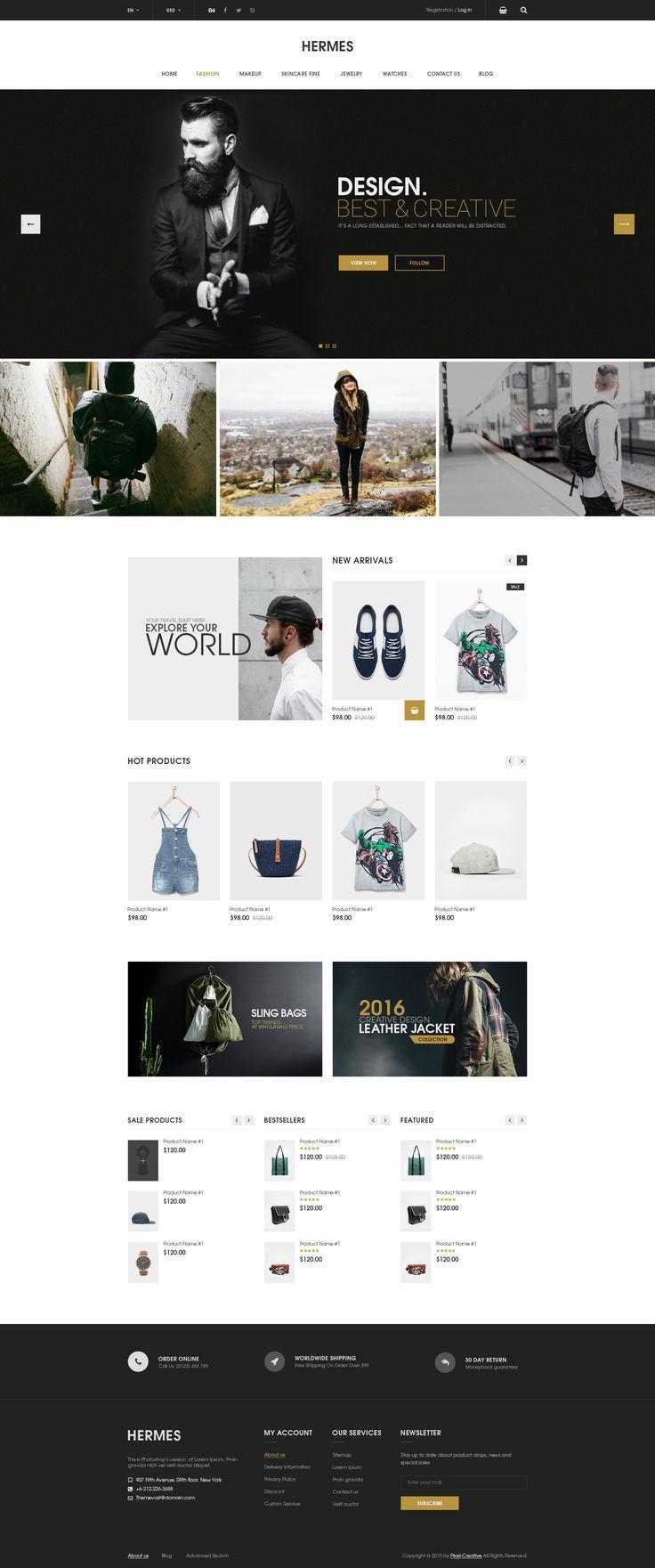 Hermes - eCommerce PSD Template - PSD Templates | ThemeForest
