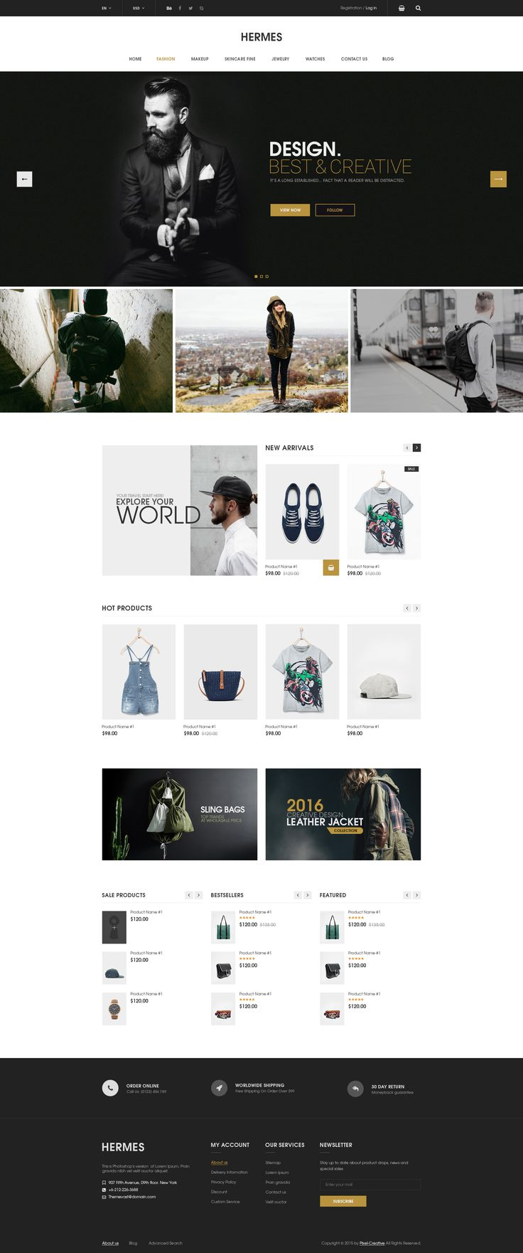 Hermes - eCommerce PSD Template • Download ➝ https://themeforest.net/item/hermes-ecommerce-psd-template/14548028?ref=pxcr