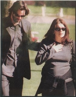Keanu and deceased g/f Jennifer Syme, visiting their stillborn daughter Ava's grave.