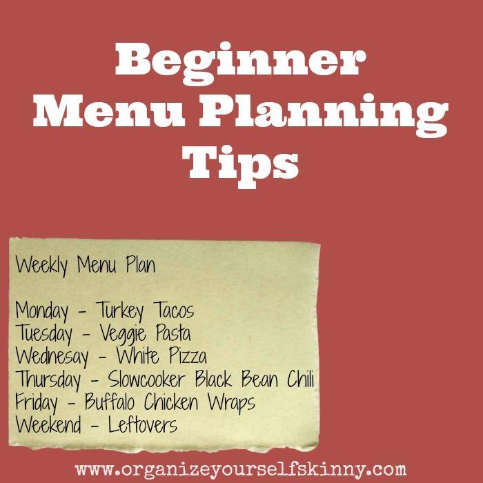 Beginner Menu Planning Tips