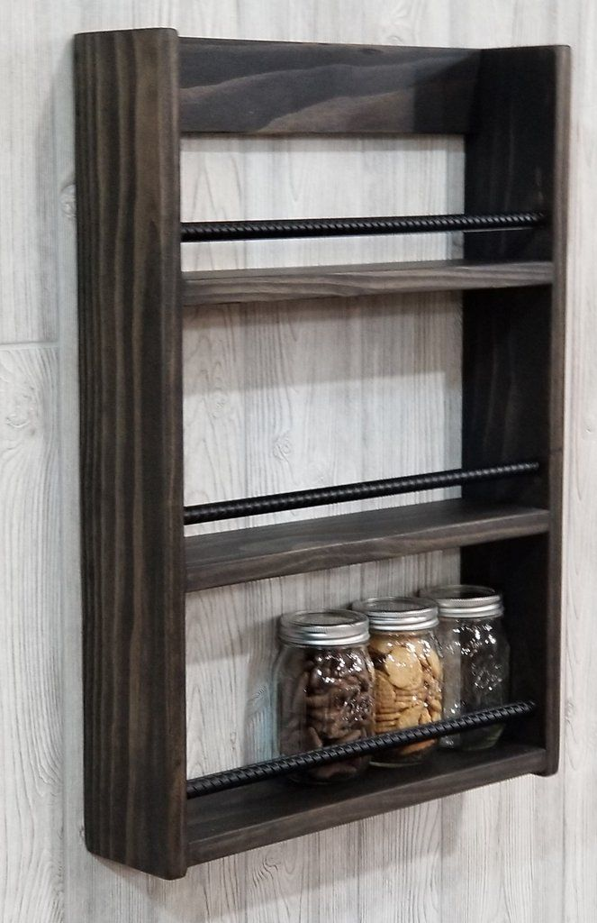 Spice Rack Hot Sauce Display Mason Jar Shelf Mason Jar Shelf Wood Spice Rack Diy Spice Rack