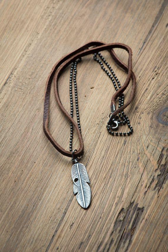 Collier homme en cuir / / Man colliers / / collier par HagarTalmor