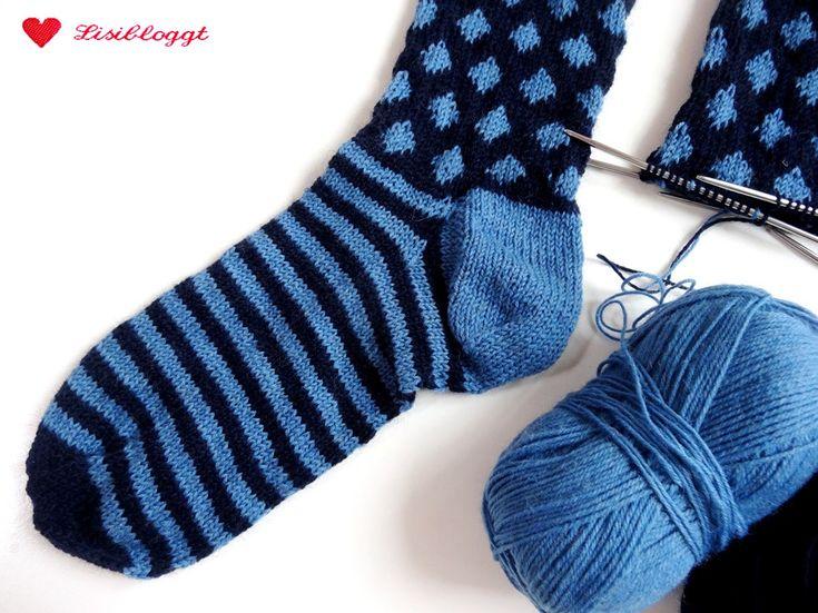 Anleitung: Punkte-Socken mit einfachem Norwegermus…