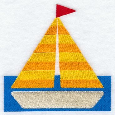 Sailboat Quilt Block 1 - Md design (B2947) from www.Emblibrary.com