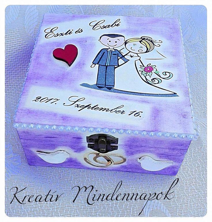 Esküvős dobozka. Nászajándék pénz ízléses dobozban átadható