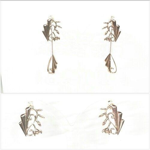 Art deco gold earrings
