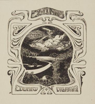 Bookplate by Botho Robert Schmidt for Eduard Dillmann, 1903