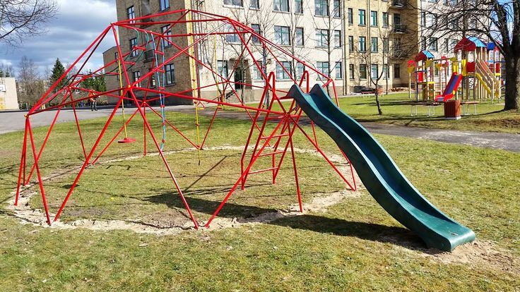 OCTA6 dome. Playground for orphan children. Obeliai, Lithuania