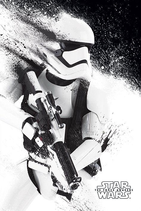 Plakat, Obraz Gwiezdne wojny, część VII : Przebudzenie Mocy - Stormtrooper Paint   Kup na Posters.pl