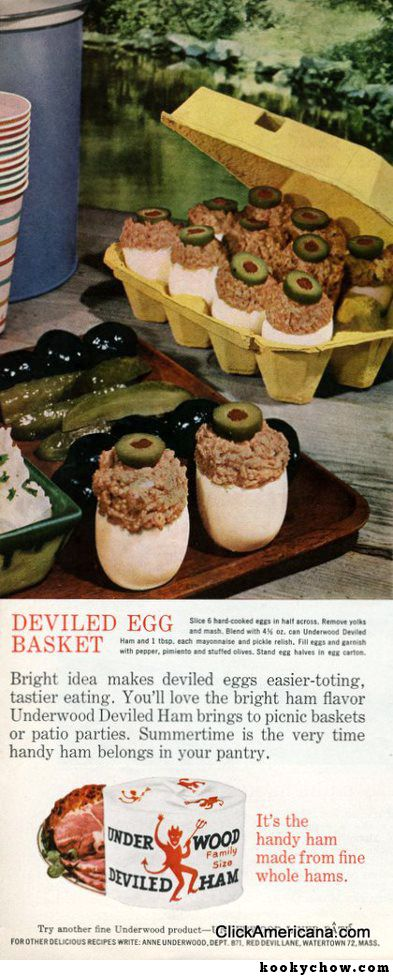 Newly Hatched Alien Life Forms Disguised As A Deviled Egg Basket.  This is an evil plot to foil the human race.  At the right time, they will rise from the egg carton and launch their nefarious attack!