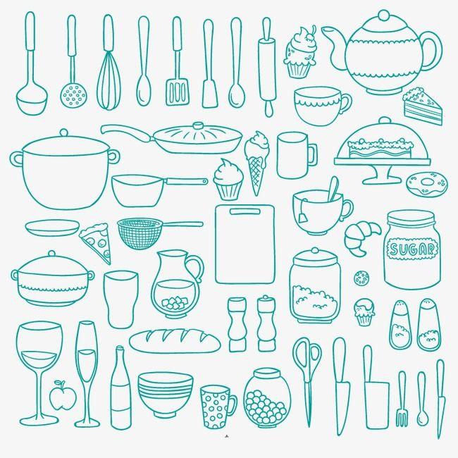 Cocina,Real,Ollas y sartenes,Cuchillo,Batidor,Hervidor de agua,Ice Cream,Tijeras,Tazas,El postre,Pastel