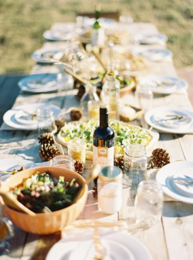 Throw a Thanksgiving potluck with friends and family.