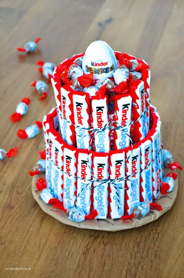 Kinder Schoko Riegel Torte Handmade Kultur 18tergeburtstaggeschenkjungs Sussigkeiten Kuchen Torte Kindergeburtstag Junge