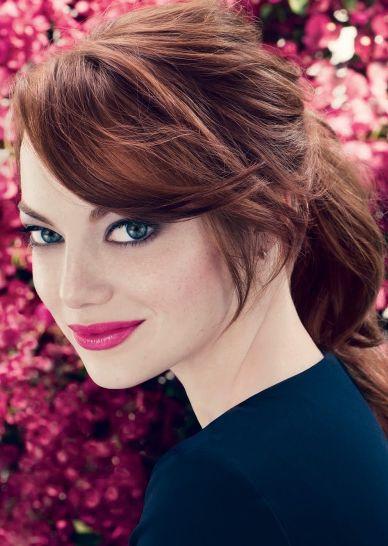 Emma Stone  Et si on optait pour une jolie couleur auburn ? #auburn #cheveux #hair #haircolor #hairstyle #coiffure #coloration