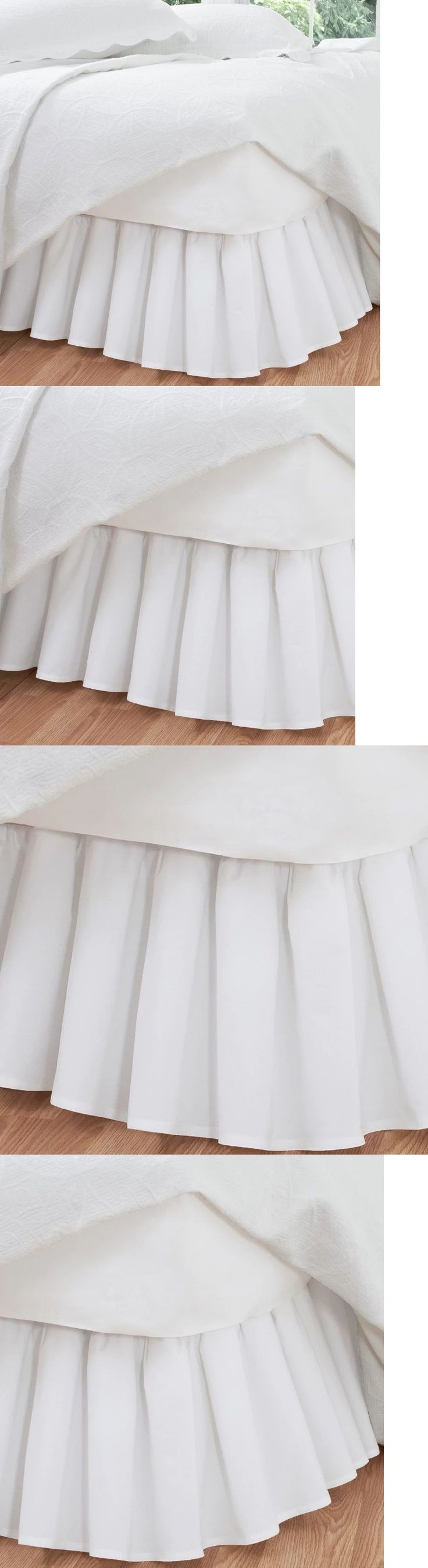 Bed Skirts 20450: Ruffled White Bed Skirt King Size 14 Inch Drop Length Poplin Cotton Blend Fabric -> BUY IT NOW ONLY: $42.65 on eBay!