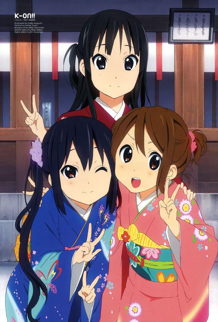 (back) Mio, (front) Azusa & Yui | K-On! #anime