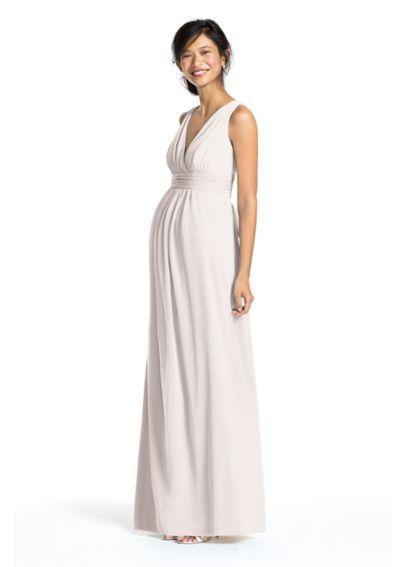 David's Bridal Maternity Bridesmaid Dress (comes in black) Sleeveless Long Mesh Maternity Dress F15759