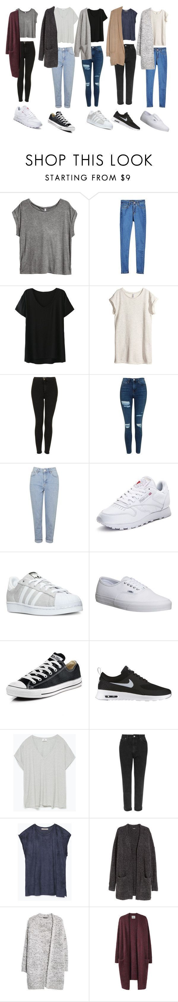 """""""Outfit of the week OOTW"""" by leilabas �� liked on Polyvore featuring H&M, Topshop, Reebok, adidas, Vans, Converse, NIKE, Zara, MANGO and Acne Studios"""