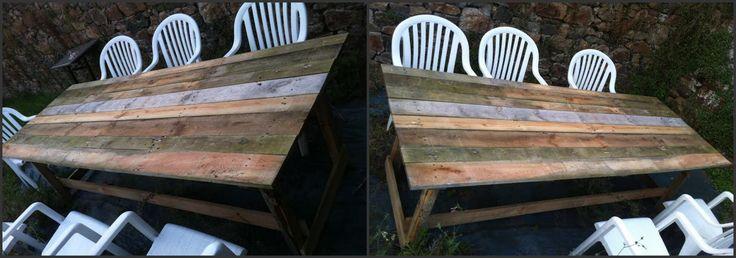 Recyclage de palettes en table de jardin :D