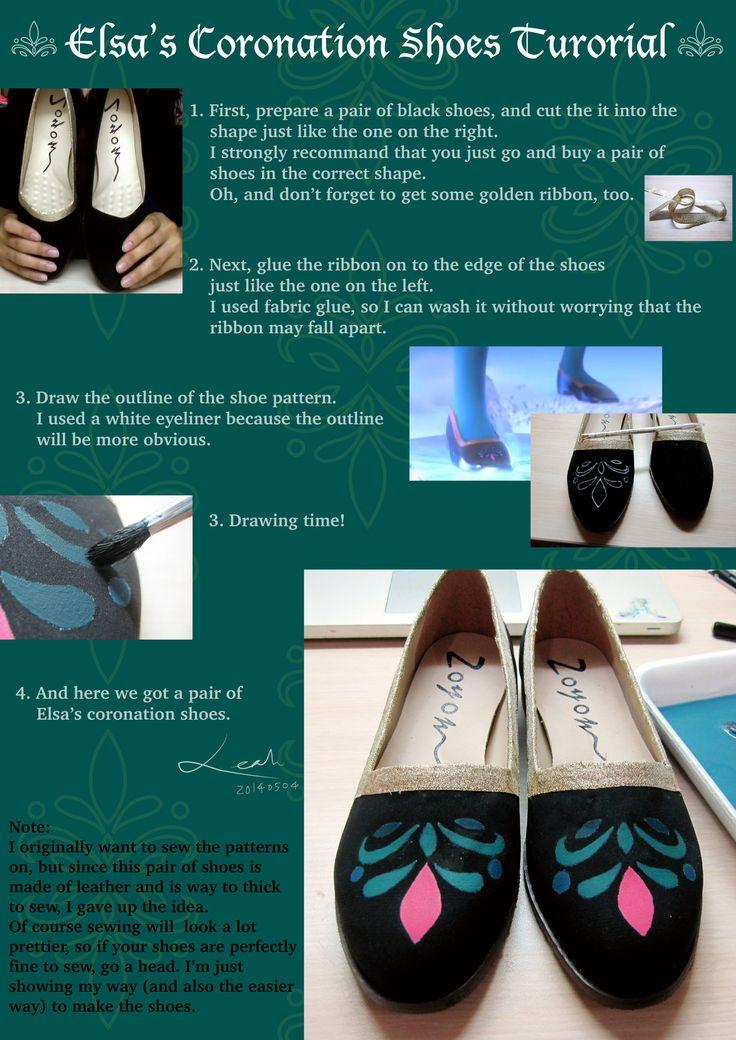 Elsa's Coronation Shoes Tutorial by pisces219320.deviantart.com on @deviantART