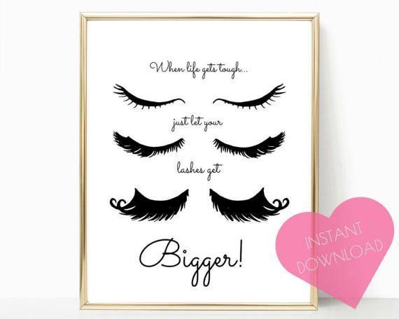 lashes printable, lashes wall art, digital download, lashes print, eyelashes printable, gifts for her, eyelashes print, wall art, wall decor