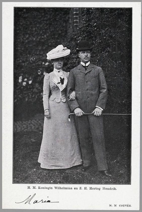 Koningin Wilhelmina en Hertog Heinrich van Mecklenburg-Schwerin, 1901