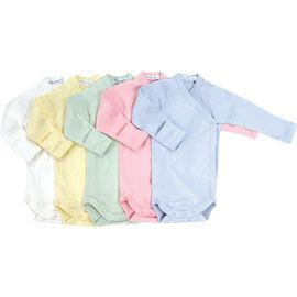 Organic Cotton Long Sleeve Side Snap Onesie by Under The Nile