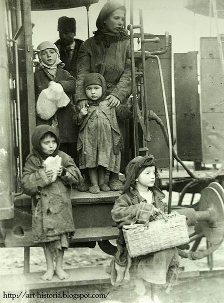 Nicolae Ionescu, One of the numberless peasant families looking for luck in Bucharest (1929)