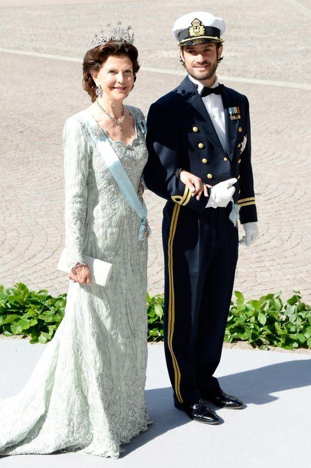 Королева Сильвия и принц Карл Филипп
