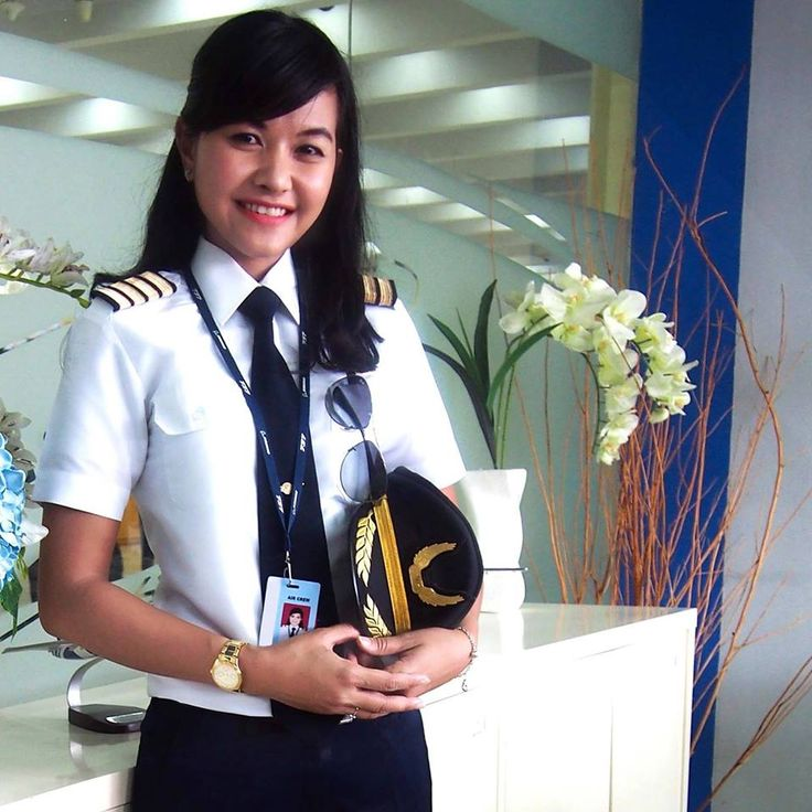 Garuda Indonesia female Captain