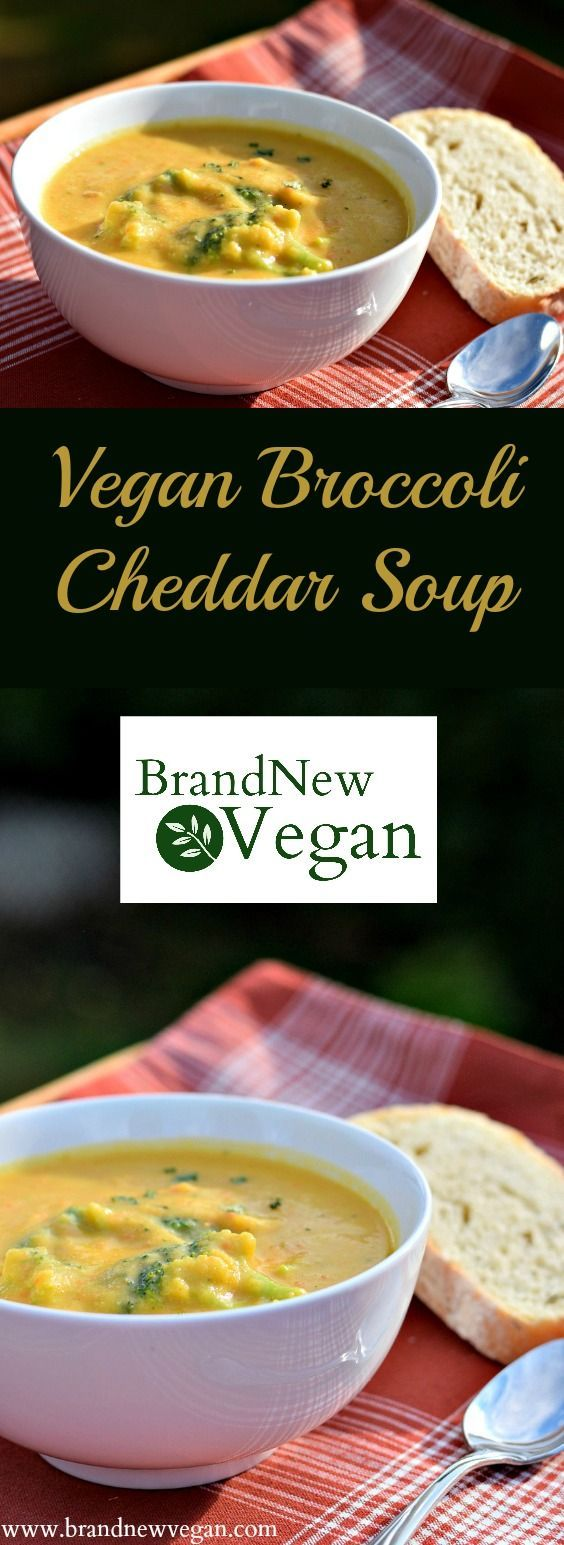 This Vegan Broccoli Cheddar Soup is perfect for those chilly Fall afternoons. A true comfort food favorite with all the original flavor but only a fraction of the calories and fat.