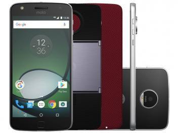 Smartphone Motorola Moto Z Play Projector Edition - 32GB Preto e Prata Dual Chip 4G Câm. 16MP