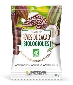 Comptoirs Et Compagnies Eclats de Fèves de Cacao enrobées de Sucre Coco 30g