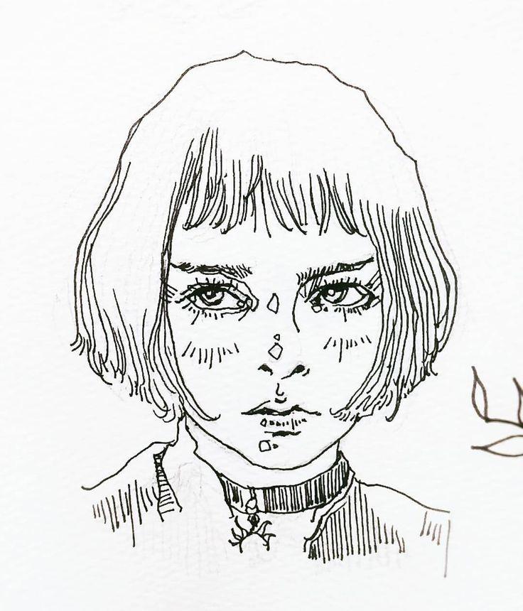 Line Art Aesthetic : Matilda drawing instaart artstagram art instadaily