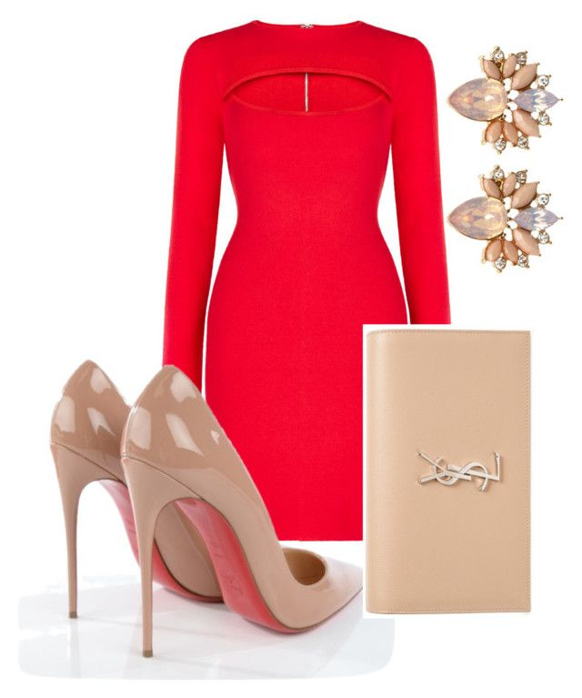 Sha'beauty by shaunmyers on Polyvore featuring polyvore fashion style BCBGMAXAZRIA Christian Louboutin Yves Saint Laurent clothing
