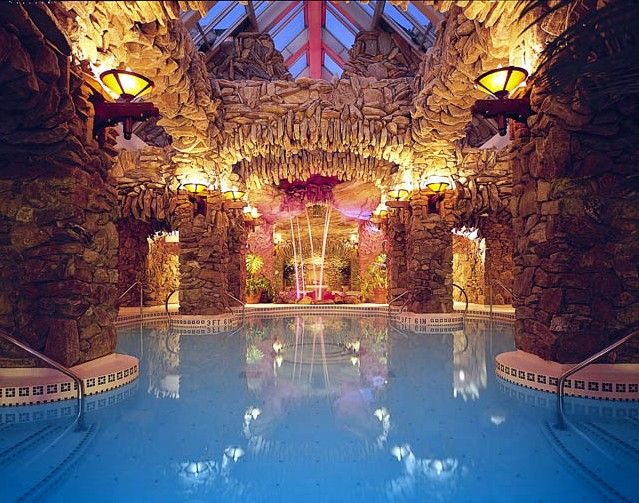 The Grove Park Inn's amazing subterranean spa is a relaxing enclave of luxury.* Asheville, NC