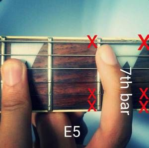 For all the rock and metal guys dere...Learn 5 different relevant shapes of the E power chord here: http://musicterrene.com/2015/09/06/e-power-chord/