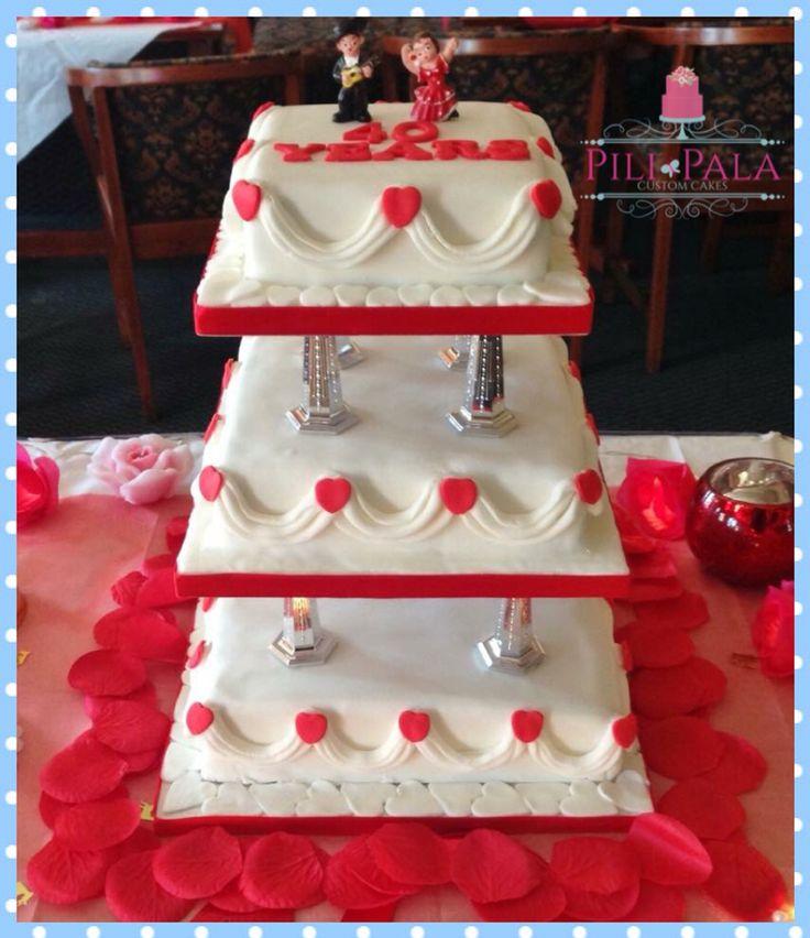 40th/Ruby anniversary cake