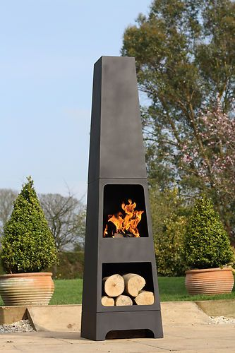 La Hacienda Malmo Steel 150cm Chiminea Chimenea Patio ...
